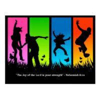 Joy of the Lord Christian postcard Nehemiah 8:10