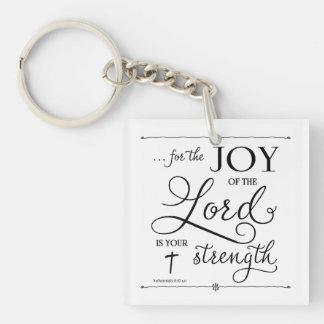 Joy of the Lord - Nehemiah 8:10 Keychain