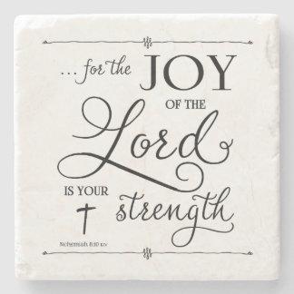 Joy of the Lord - Nehemiah 8:10 Stone Coaster