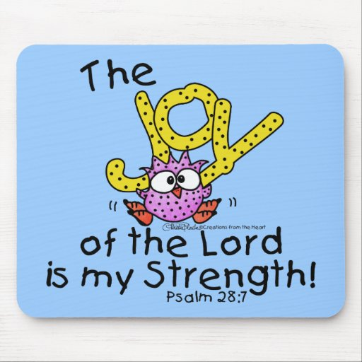 Joy of the Lord Pink Owl Mousepad