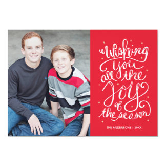 Joy of the Season Holiday Photo Card