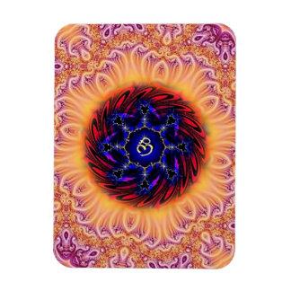 Joy Om Fractal Mandala Premium Flexi Magnet