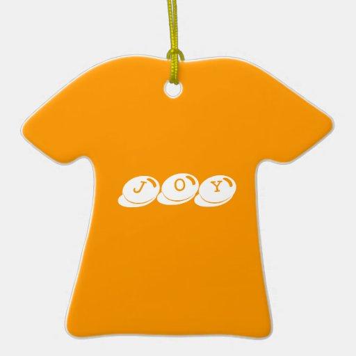 Joy Double-Sided T-Shirt Ceramic Christmas Ornament