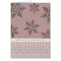 snowflakes, lines, squares, joy, peace, xmas, christmas, gift, holidays, snow, winter, Card with custom graphic design