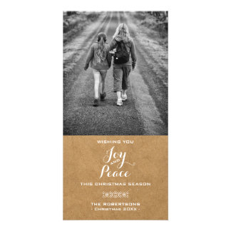 Joy & Peace - Christmas Wishes Photo - Paper Card