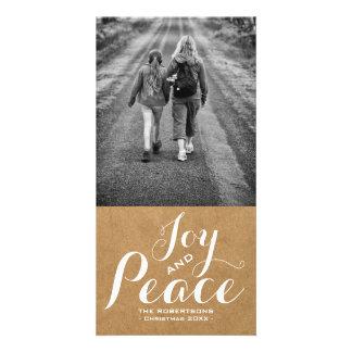 Joy & Peace - Christmas Wishes Photo - Paper v2 Card