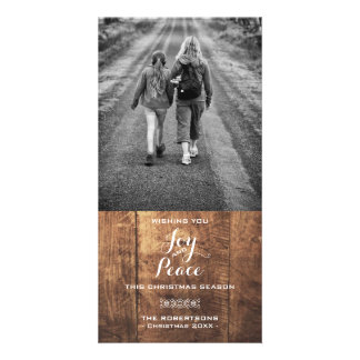 Joy & Peace - Christmas Wishes Photo - Wood Card