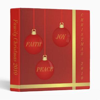JOY, PEACE & FAITH CHRISTMAS 2010 3 RING BINDER