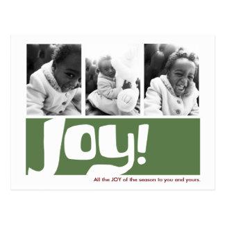 Joy & Peace Holiday 3 Photo Triptych Postcard