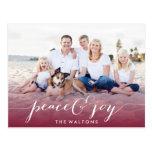 JOY & PEACE HOLIDAY PHOTO CARDS POST CARDS