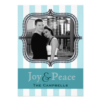 joy & peace - holiday stripes - ice announcements