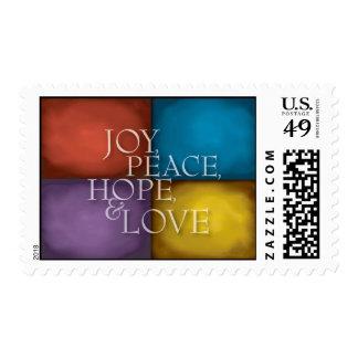 JOY PEACE HOPE & LOVE U.S. Postage Stamp
