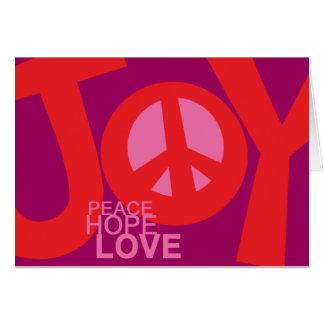 Joy, Peace, Hopeand, Love Holiday Card