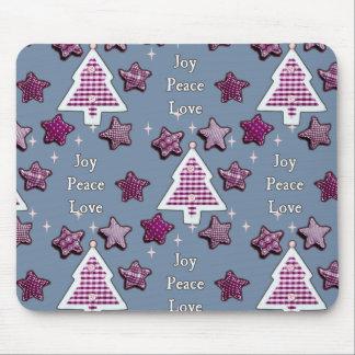 Joy, Peace, Love! blue Mouse Pad
