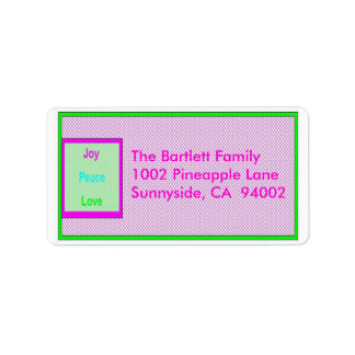 Joy Peace Love Hip Trendy Holiday Mailing Label