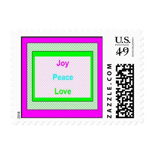 Joy Peace Love Hip Trendy Holiday Stamps