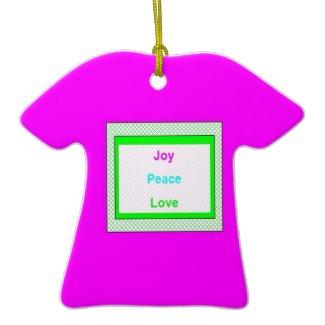 Joy Peace Love Hip Trendy T-Shirt Ornament ornament