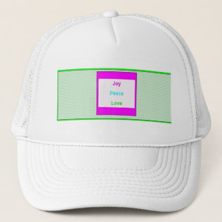 Joy Peace Love Hip Trendy Trucker Mesh Hat