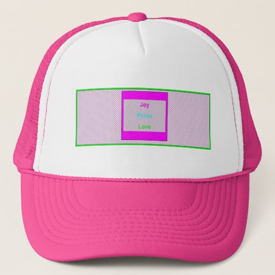 Joy Peace Love Hip Trendy Trucker Mesh Hat