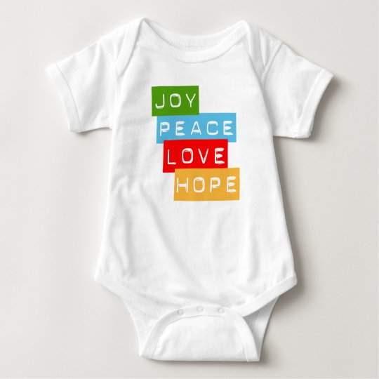 Joy Peace Love Hope Baby Clothes Baby Bodysuit