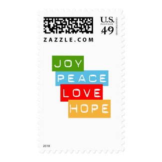 Joy Peace Love Hope stamps