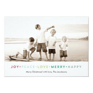 Joy Peace Love Merry Happy Holiday Photo Card