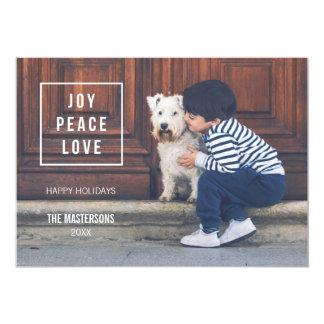 Joy Peace Love | Modern Holiday Photo Card