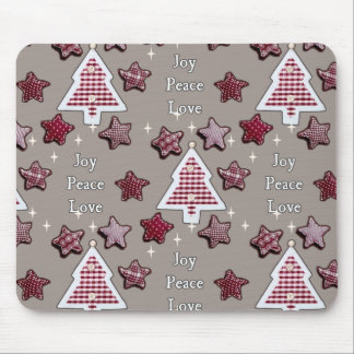 Joy, Peace, Love! Mouse Pad