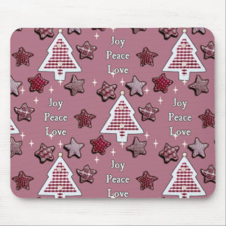 Joy, Peace, Love! pink Mouse Pad