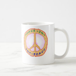 JOY = PEACE CLASSIC WHITE COFFEE MUG