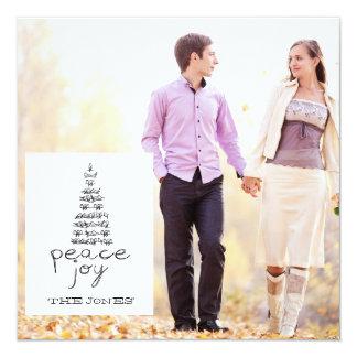JOY PEACE PHOTO HOLIDAY SQUARE FLAT CARD