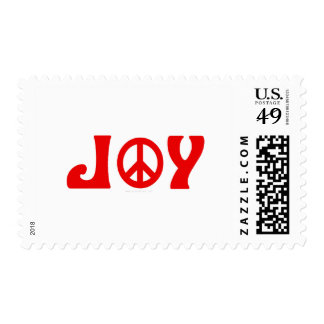 Joy Peace Sign Postage Stamp