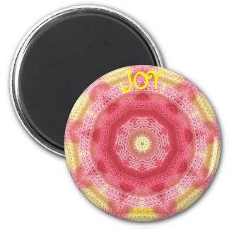 JOY ~ Personalised Knitting Sample Fractal ~ Magnet
