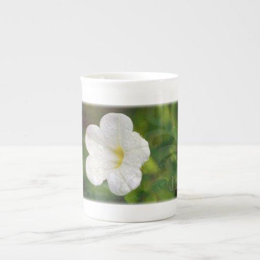Joy Petunia Porcelain Mugs