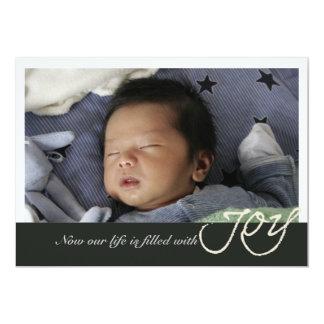Joy Photo Birth Announcement