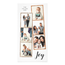 Joy | Photo Booth Film Strip Collage | Holiday Card