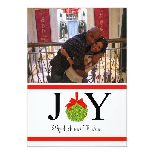 Joy Photo Christmas Card