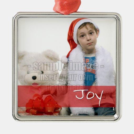 Joy Photo Custom Ornament