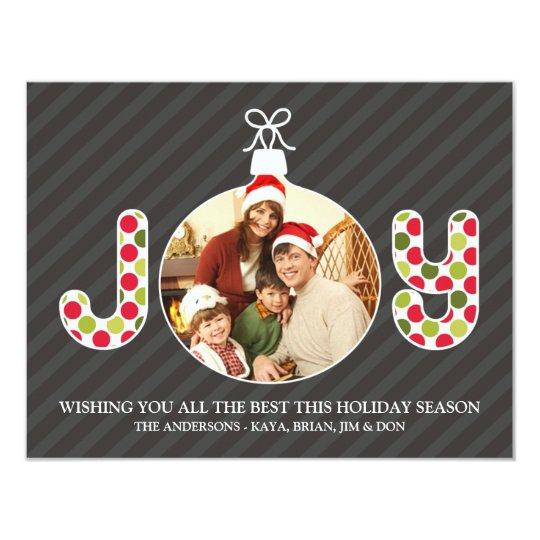Joy Photo Holiday Flat Card