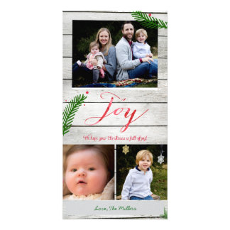 Joy Pine Branches Photo Card