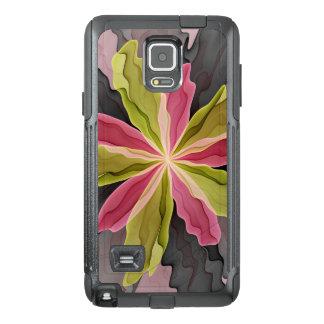 Joy, Pink Green Anthracite Fantasy Flower Fractal OtterBox Samsung Note 4 Case