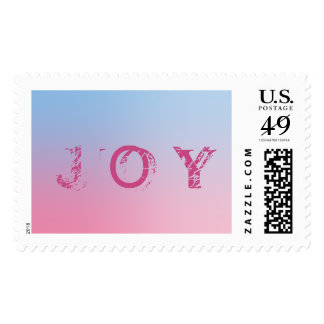 Joy Pink Postage Stamp All Size Options