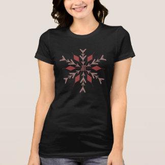 Joy Pink Snowflake   Holiday Apparel T Shirts