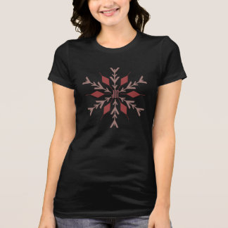 Joy Pink Snowflake Holiday T-Shirt