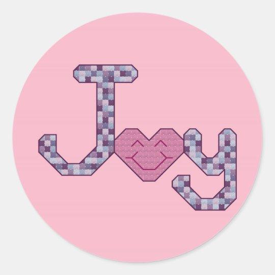 Joy Pink Stickers
