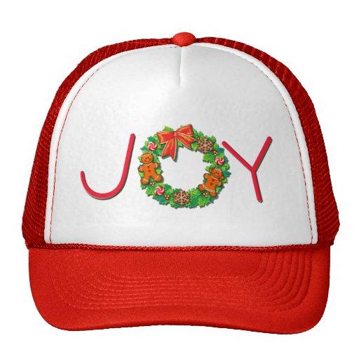 JOY, PINWHEELS & GINGER WREATH by SHARON SHARPE Mesh Hat