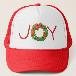 JOY, PINWHEELS & GINGER WREATH by SHARON SHARPE Trucker Hat