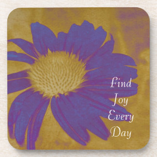 Joy Purple Flower Coaster Set