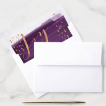 Joy | Purple Watercolor Ombre Wash Snowflakes Envelope Liner