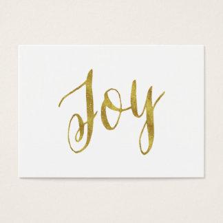 Joy Quote Faux Gold Foil Glitter Background Business Card